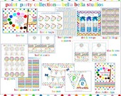 PAINTING-ART Party Complete COLLECTION - Custom Printable Party by Bella Bella Studios