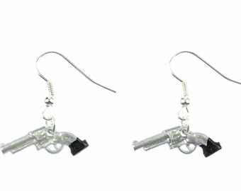 Gun earrings revolver gun earrings of Miniblings Colt cowboy gun mini