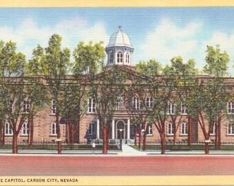 Carson City, Nevada, State Capitol - Linen Postcard - Unused (A5)