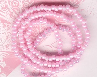 6/0 Seed Bead Pearl Pink, #6 Pink Seed Beads, Flamingo Pink Seed Beads, Pink Spacer Beads, Size 6 Seed Bead, Pink Pearl Seed Bead, Pink
