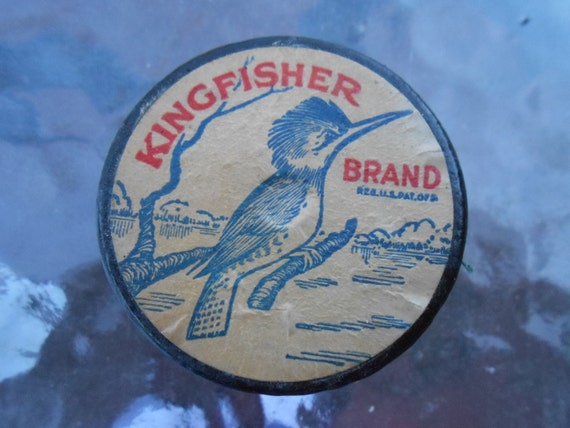 Vintage kingfisher brand silk fishing line advertising old htf for Fishing line brands