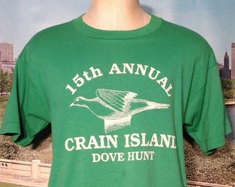 Late 80's, early 90's Crain Island Dove Hunt t-shirt, large