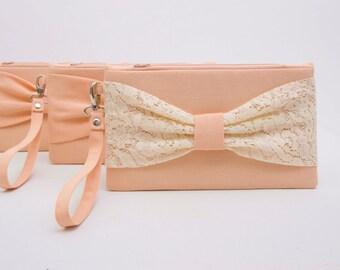 Sale - Bow wristelt clutches ,bridesmaid clutch ,wedding clutch ,bridesmaid clutches ,Set of, 1,2,3,4,5,6,7,8,9,10,  piece 9,90 USD