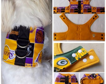 Dog Vest Harness Los Angeles Lakers print Dog Vest Harness  for Small Breed Dogs or Cats
