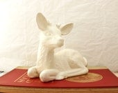 Large Ceramic Deer, White Ceramic Deer, Large White Deer Figurine, Ceramic Deer Statue,