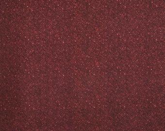 Woolies Flannel, Burgundy Tweed, 1 yard