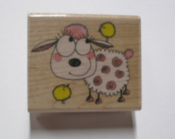 Penny Black Wood Mounted Rubber Stamp -  Fur Ball Fun