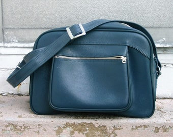 Stylish Muted Blue American Tourister Carry On Bag