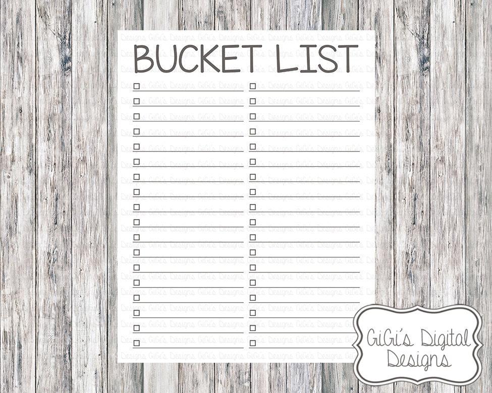 magnificent bucket list template vignette entry level resume