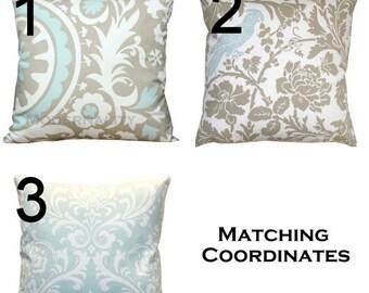 SALE Decorative Throw Pillows- Premier Prints Powder Blue Euro Sham Pillow Cover- 26x26 inches- Zippered Pillow- You Choose- Cushion Cover