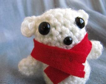 Polar Bear Cub Crocheted Amigurumi Totem Toy Charm