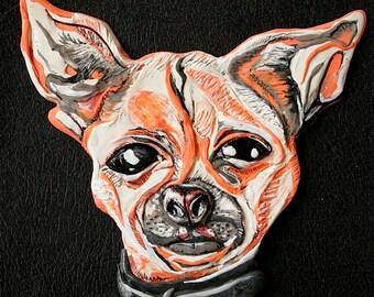 Custom Pet Portrait Polymer Clay Pet Head Sculpture