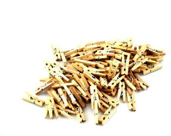 Natural Wooden Clothespins 50 pcs
