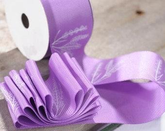 "Grosgrain Ribbon Lavender 1 1/2""width 10 yards"