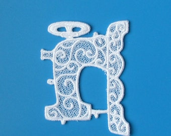 Any Color Lace Applique for Crafts or Crazy Quilt - Sewing Machine