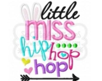 Little Miss Hip Hop Hop Easter Shirt