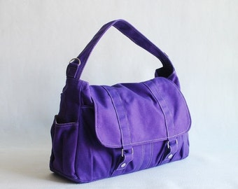 Back To School SALE 30% - Pico2 in Purple (Water Resistant) Purse  Shopping Bag  Shoulder Bag/ Messenger Bag/ Diaper Bag/Diaper Bag/ School