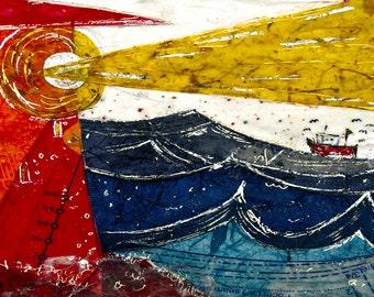 Illumination- an original art print - sea