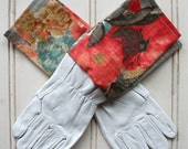 Washable Leather Gardening Gloves for Women - Watercolour Odyssey, Gardeners Gift, Green Thumb, Gift for Women, Garden Tools, Green Thumb