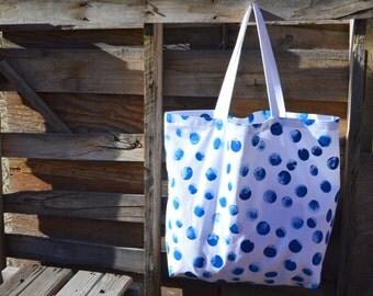 Hand Painted Beach Bag- Beach Bag- Tote Bag-  Large Beach Bag