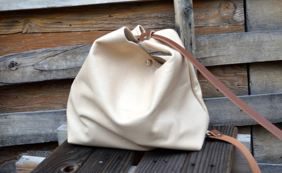 Leather Shoulder Bag- The  Hobo- Ready to Ship