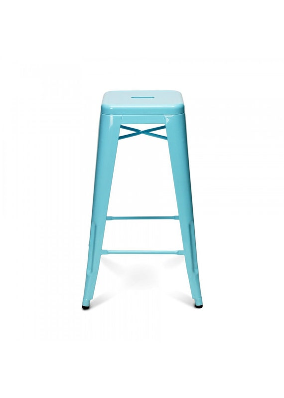 "Custom Painted Tolix Style Stool in the Color of your Choice 30"" Bar Height"