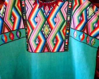 Huipil, handwoven Huipil, Vintage Huipil, Mexican. Guatemalan huipil, Frida Kahlo