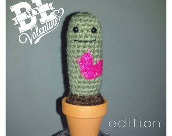 Valentine's Edition of the Cute Crochet Cactus