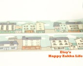 street housing - Japanese Washi Masking Tape - 20mm Wide - 5.5 Yards