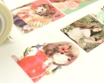 Dream Girls - Japanese Washi Masking Tape - 30mm wide - 5.5 Yards