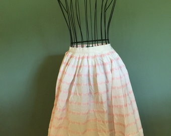 Vintage 1950's Novelty print butterfly skirt, size XS or S