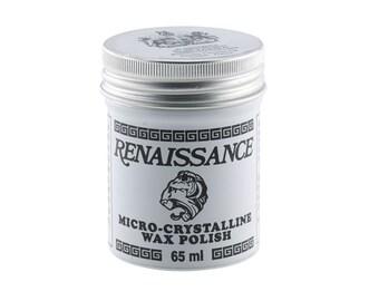 Renaissance Polishing Wax, 65 ml, Ren Wax, Preservation Wax, Microcrystalline Wax, for use on Metal and many surfaces