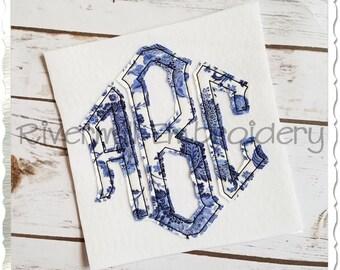 Raggy Point Monogram Applique Machine Embroidery Font Alphabet - 4 Sizes