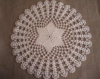 "Lace Crochet Doily. Round 14.5"" . New. Artwork Home Decor"