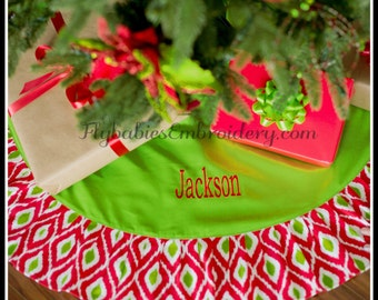 Personalized Tree Skirt - Personalized Christmas Tree Skirt - Monogrammed Tree Skirt