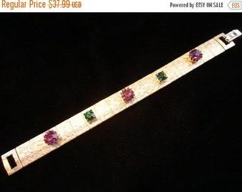 Now On Sale Vintage 1950's 1960's Rhinestone Bracelet Mad Men Mod Retro Designer Signed Art II Jewelry