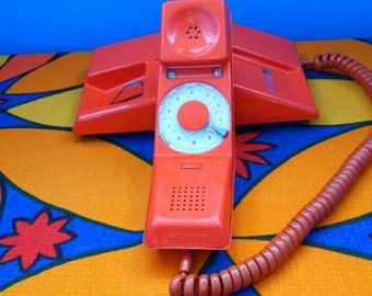 Vintage Orange Contempra Telephone