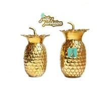 Vintage Brass Pineapple Vase Brass Pineapple Boxes Set of 2 Pineapples Wedding Table Decor Brass Wedding Vase Ananas Pina