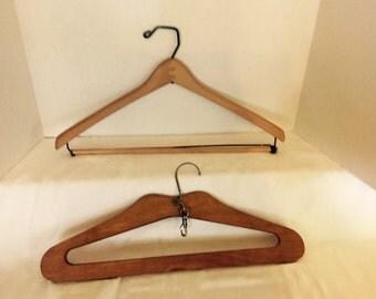 Vintage Wooden Hangers Suitcase Hanger Coat Hanger