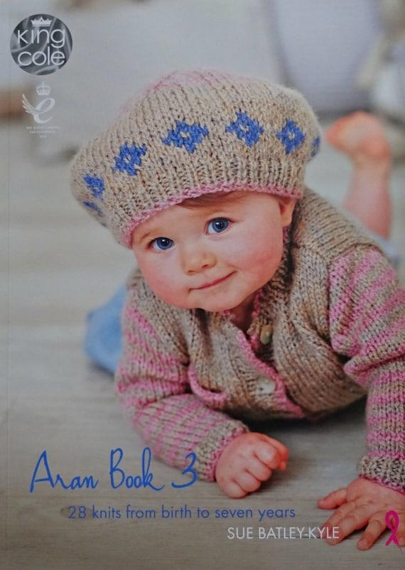 Aran Knitting Pattern Books : Baby Knitting PATTERN BOOK Baby Aran Knitting Book 3 Knitting