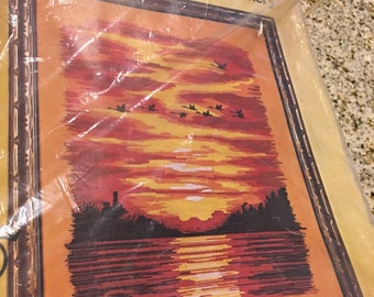Sundown sunset  Stitchery embroidery crewel kit paragon kit