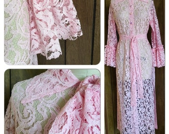 """Lace Duster Or Dress from """"LA VIE BOHEME"""" Collection"""