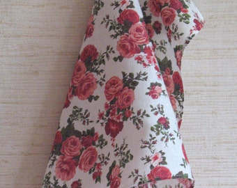 Linen Cotton Dish Towels Rose Flowers Tea Towels