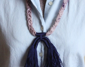 Arches Necklace - Navy + Logwood