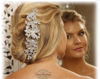 Bridal comb, Wedding hair accessory, Bridal hair comb, crystal comb, bridal hair accessory, Ballroom Rhinestone Hair Comb, bridal headpiece