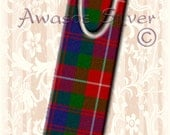Metal bookmark with high quality printed original images. Clan Fraser of Lovat Tartan on high quality metal bookmark. Clan Fraser