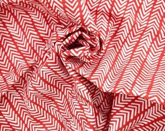 SALE FABRIC, Modern Home, Herringbone, Red Fabric, Monaluna Fabrics, Organic Fabric, Choose- Half Yard, Fat Quarter, Free Shipping Available