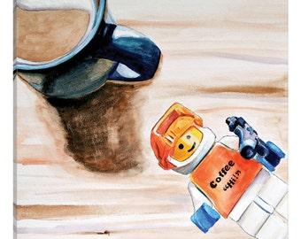 iCanvas Coffee Hi Gallery Wrapped Canvas Art Print by Jennifer Redstreake
