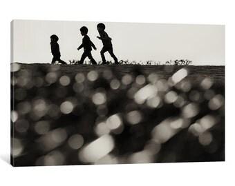 iCanvas Three Little Boys Gallery Wrapped Canvas Art Print by Akitoshi Sasakura