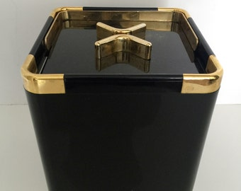 Ice Bucket Black with 24kt Gold